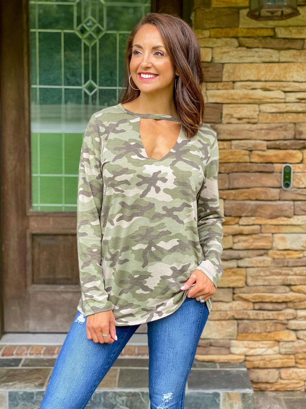 Make an Impression Camo Top