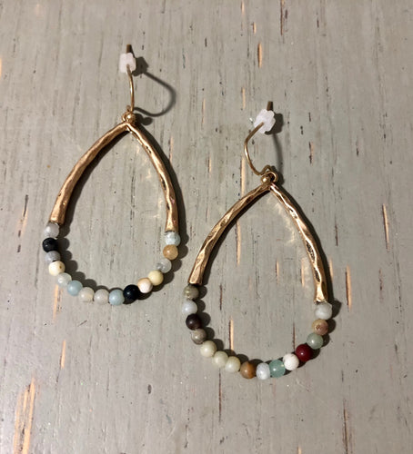 Amazonite Accent Earrings