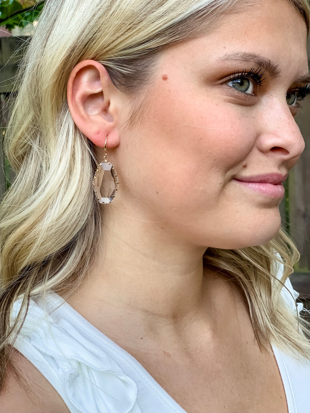 Feeling Fancy Earrings (Clear Crystal)