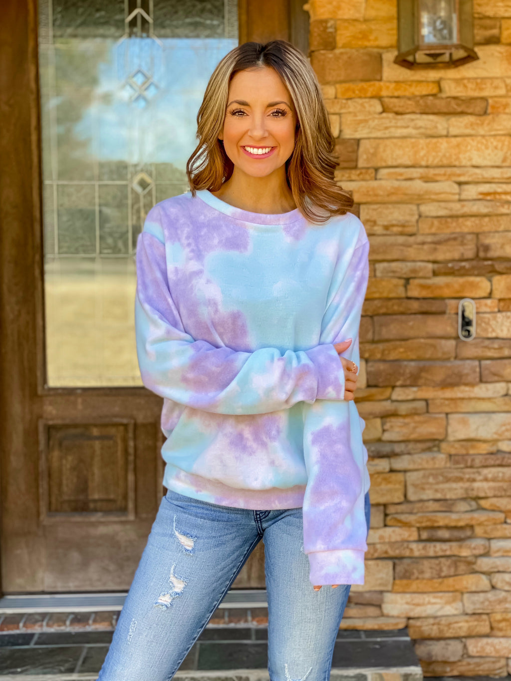 Cotton Candy Clouds Pullover