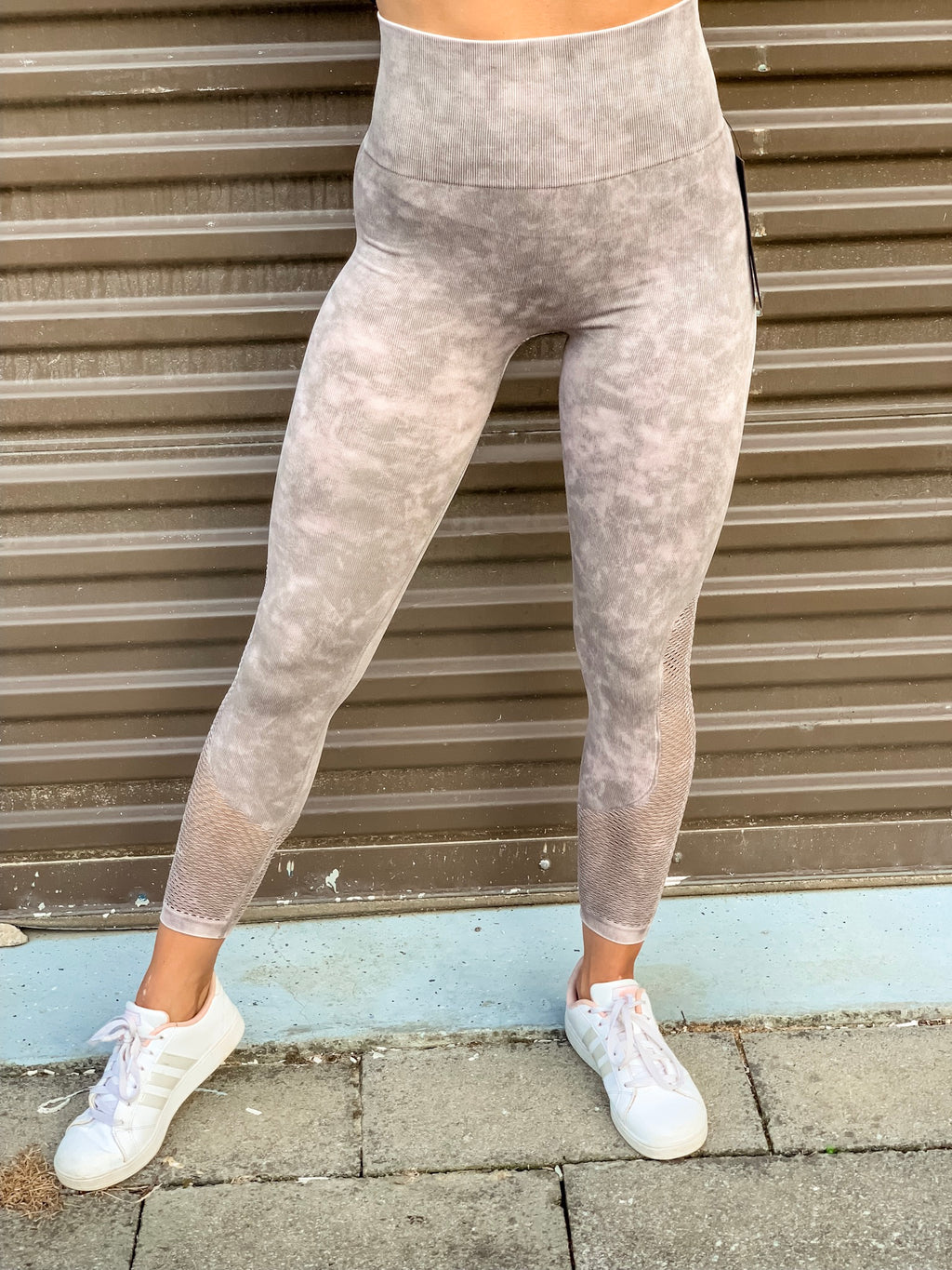 Stone Washed Seamless Workout Leggings