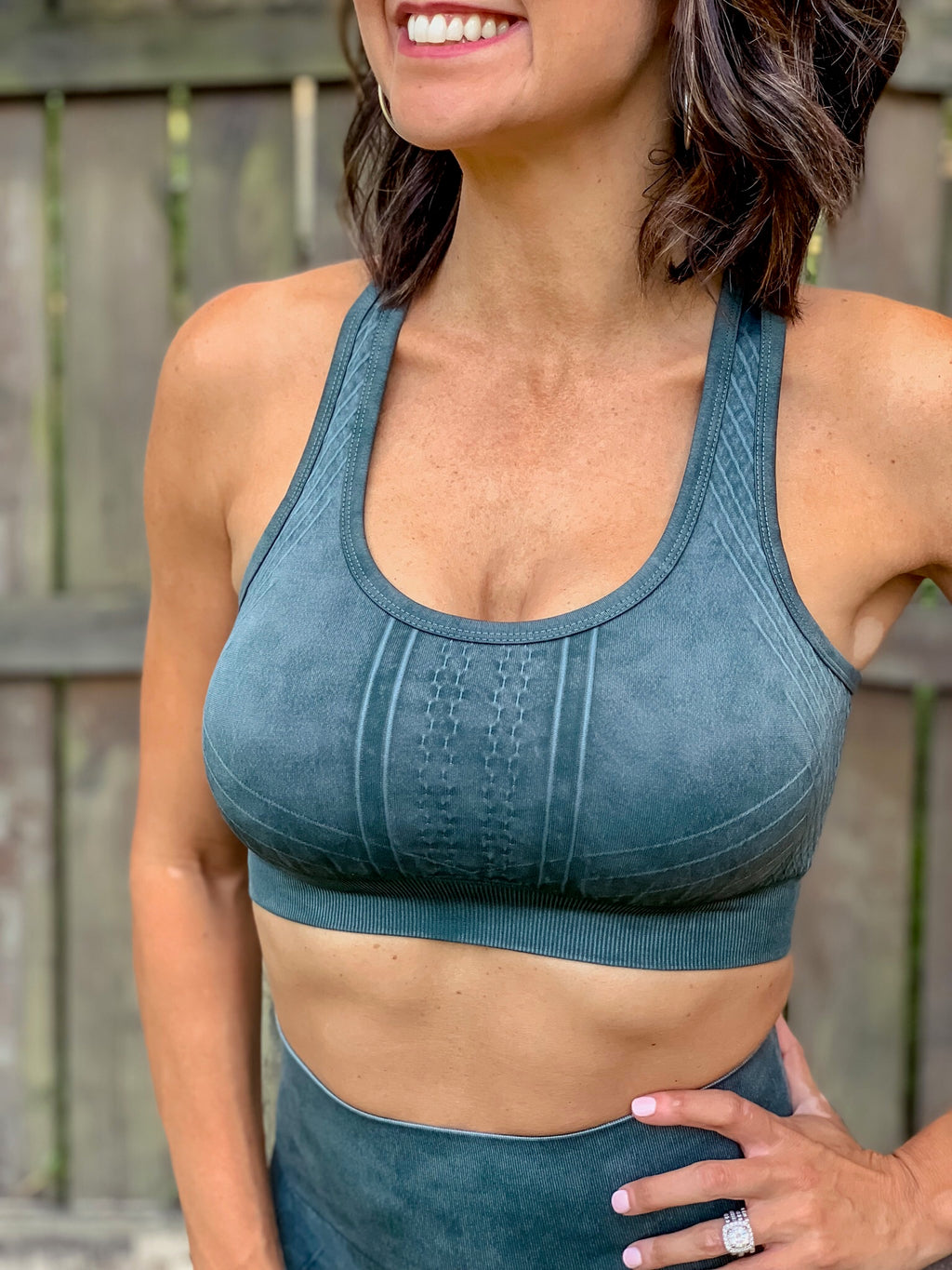 On The Run Sports Bra (Hunter Green)