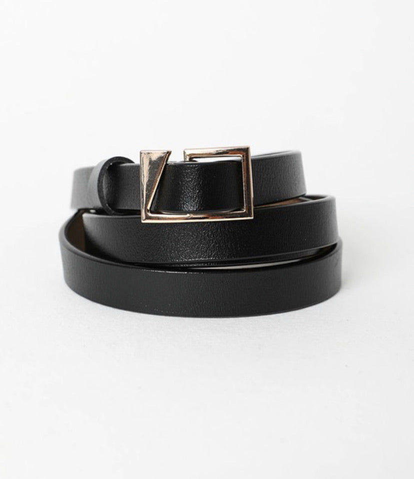 Asymmetrical Buckle Belt