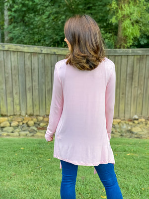 Count On Me Cardigan (Dusty Pink)