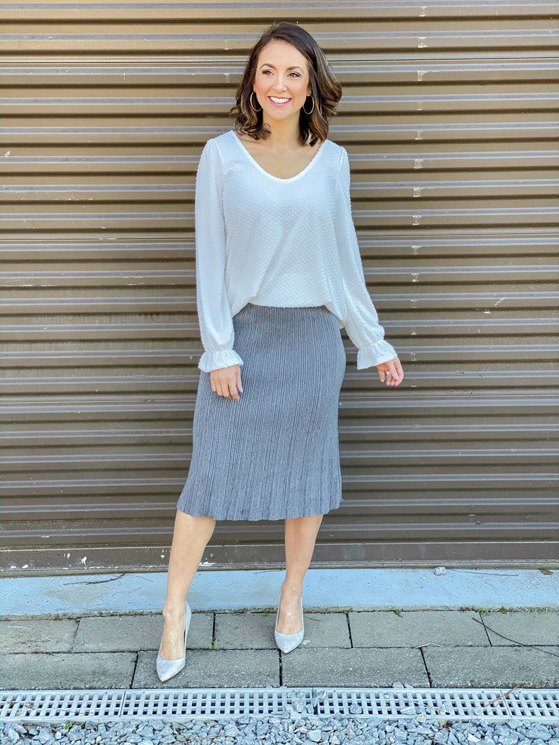 In Charge Midi Skirt