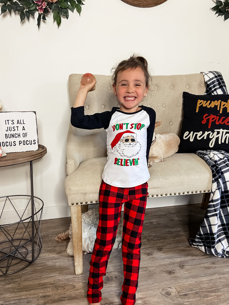 Kids Buffalo Plaid Leggings