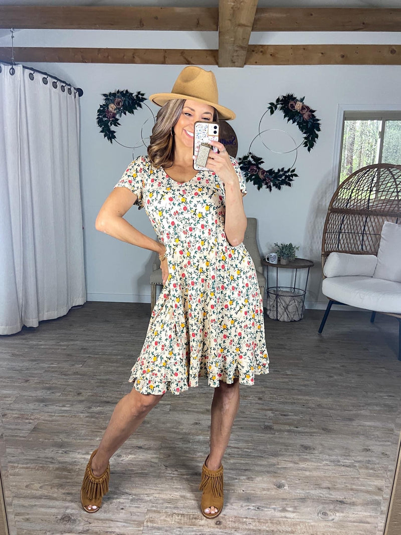 Spring in My Step Floral Dress