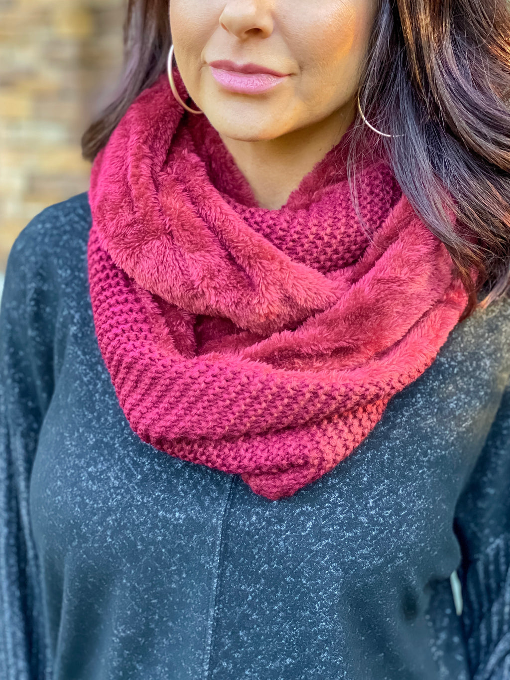 Make Your Mark Infinity Scarf (Burgundy)