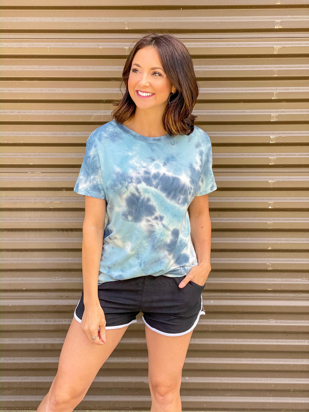 Ocean Waves Tie Dye Top