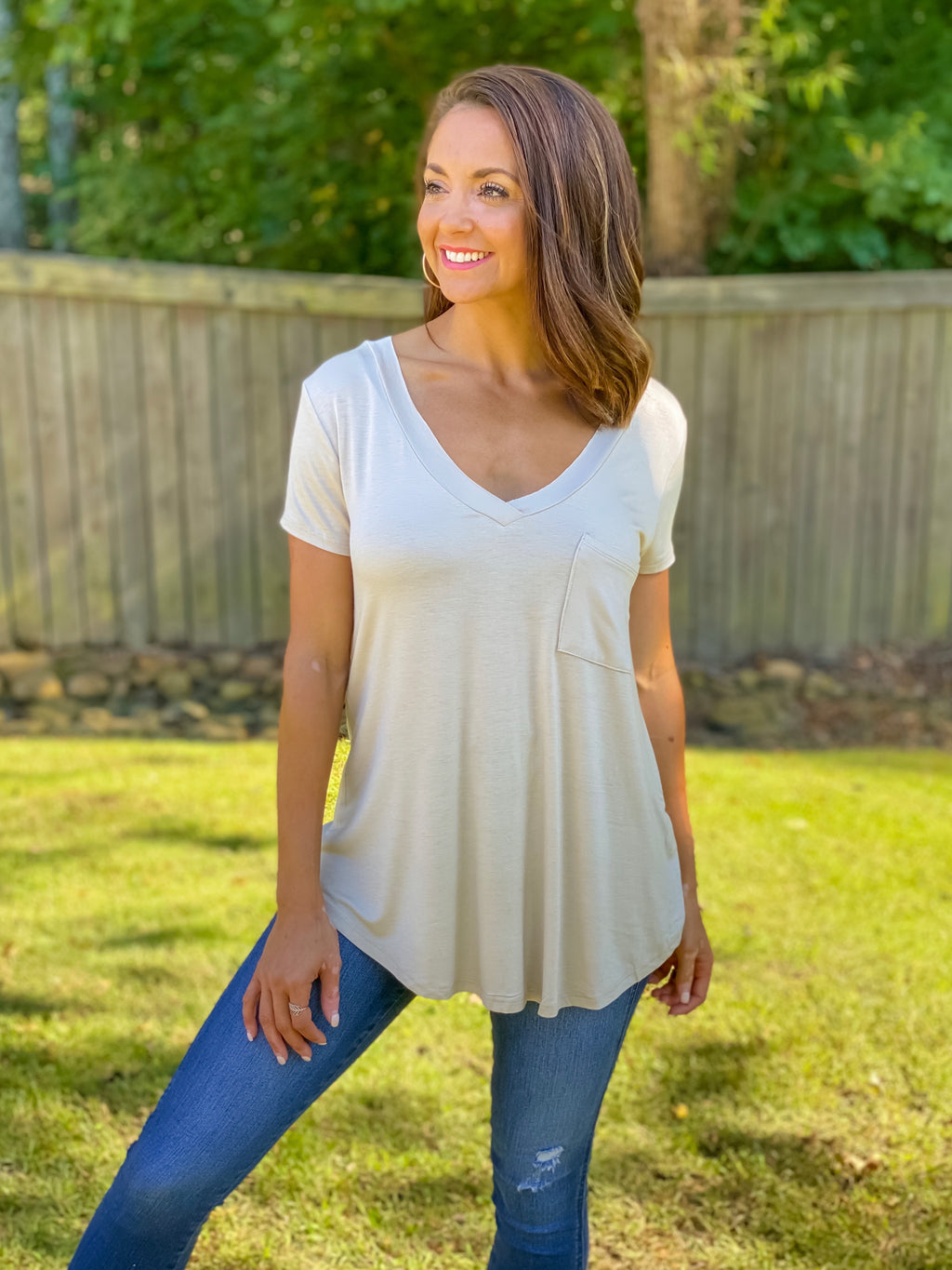 Basic Pocket Comfort Tee (Natural)