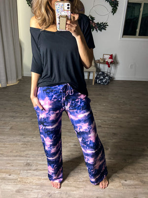 Abstract & Purple Butter PJ Pants (Pockets)
