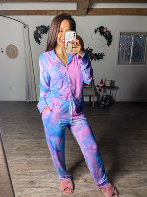 Dreaming in Comfort Tie Dye Butter PJ