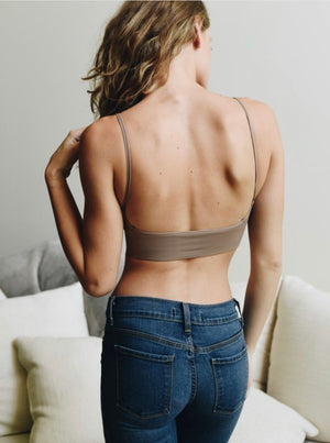 Low Back Bralette (Mocha)