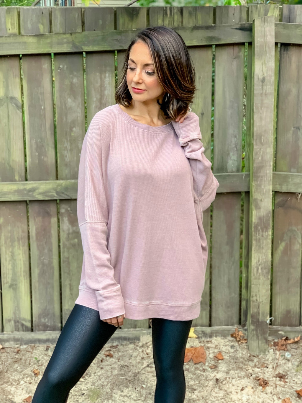 On the Go Pullover (Mauve)