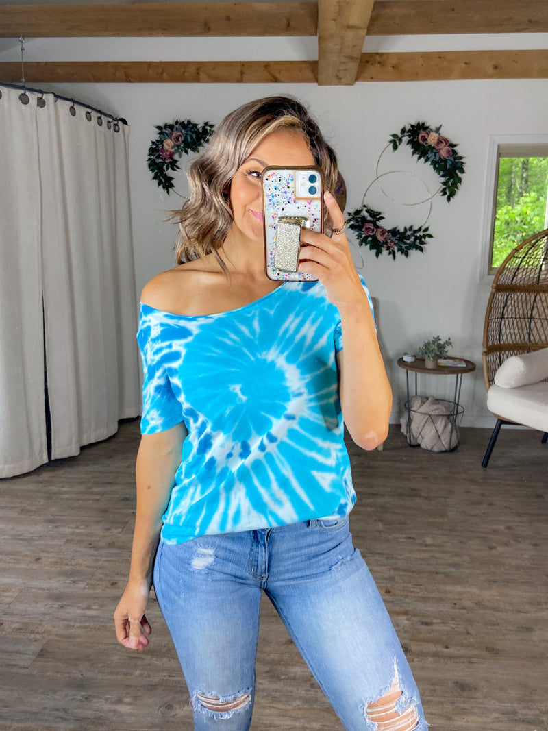 Blue Me Away Tie Dye Tee