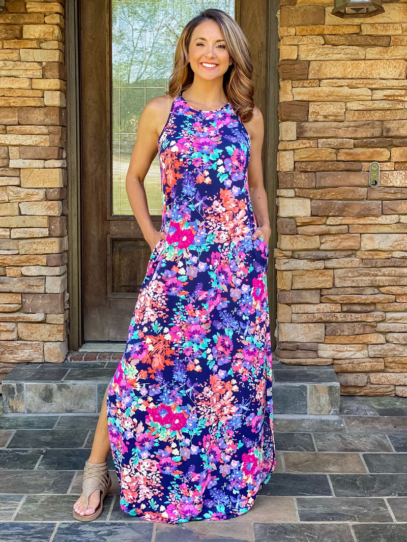Garden Dreams Floral Maxi Dress