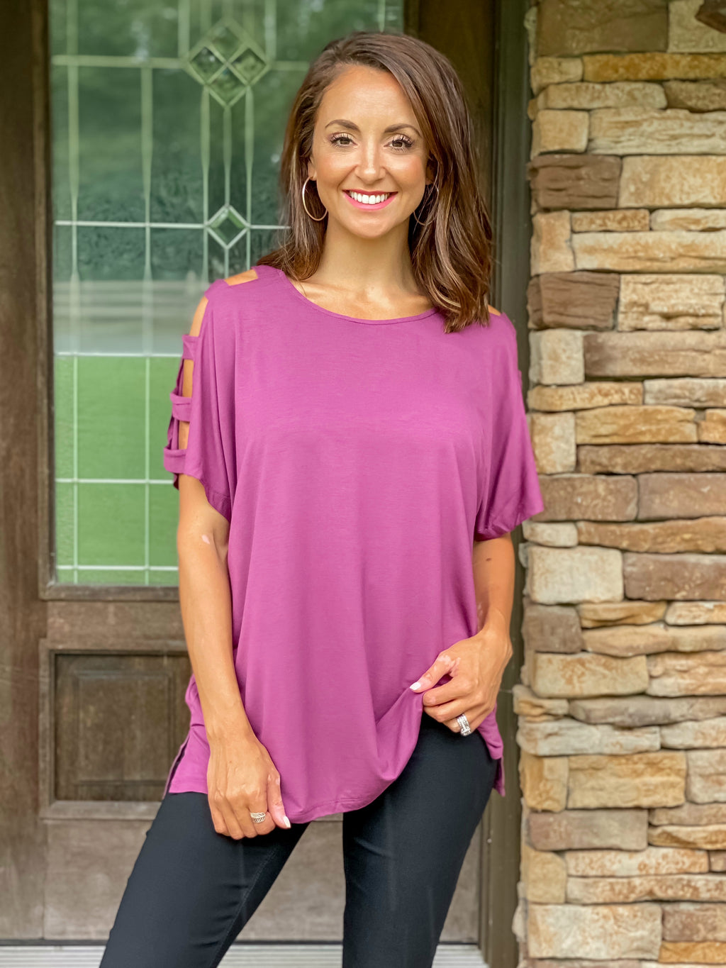 Night Out Top (Dusty Plum)