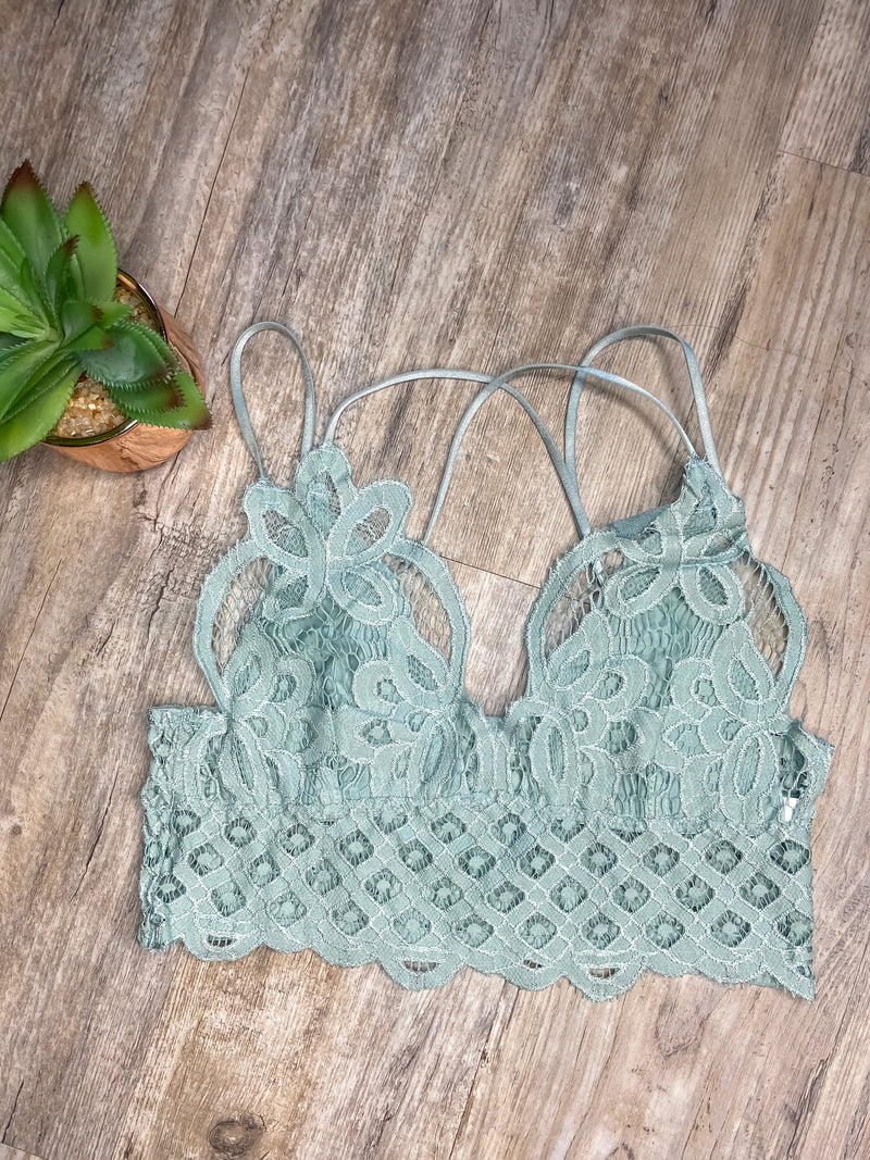 Pretty Things Bralette (Sage)