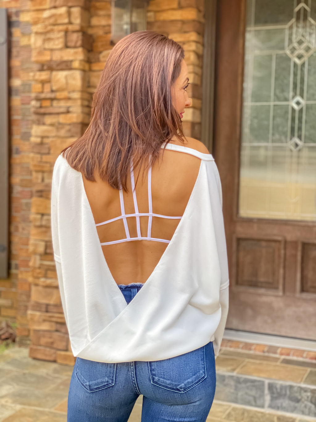The Good Life Open Back Top (Off White)