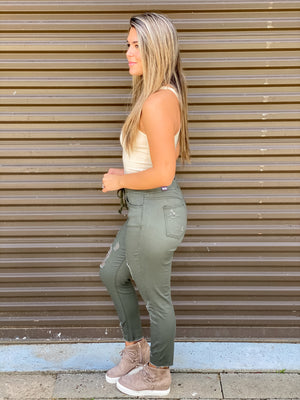 Olive You More Jean Joggers