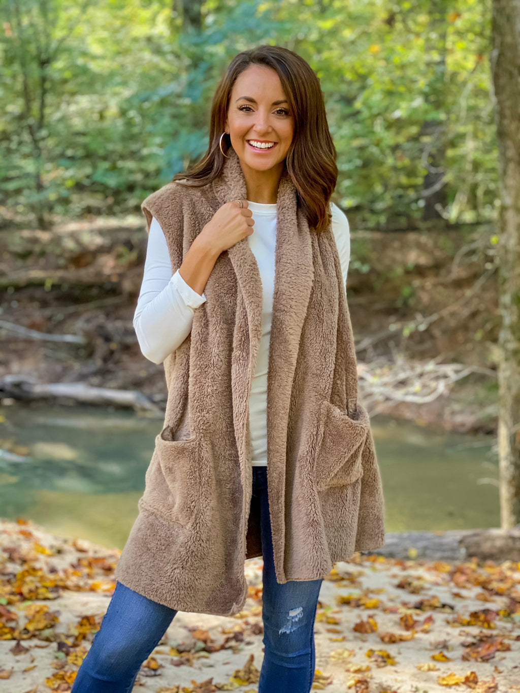 All Warm & Cozy Vest (Taupe)
