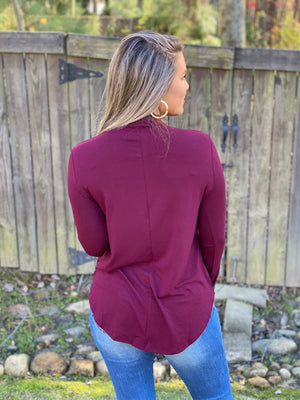 What You Need Top (Burgundy)