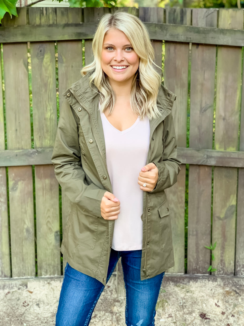 Mad for Plaid Cargo Jacket (Olive)