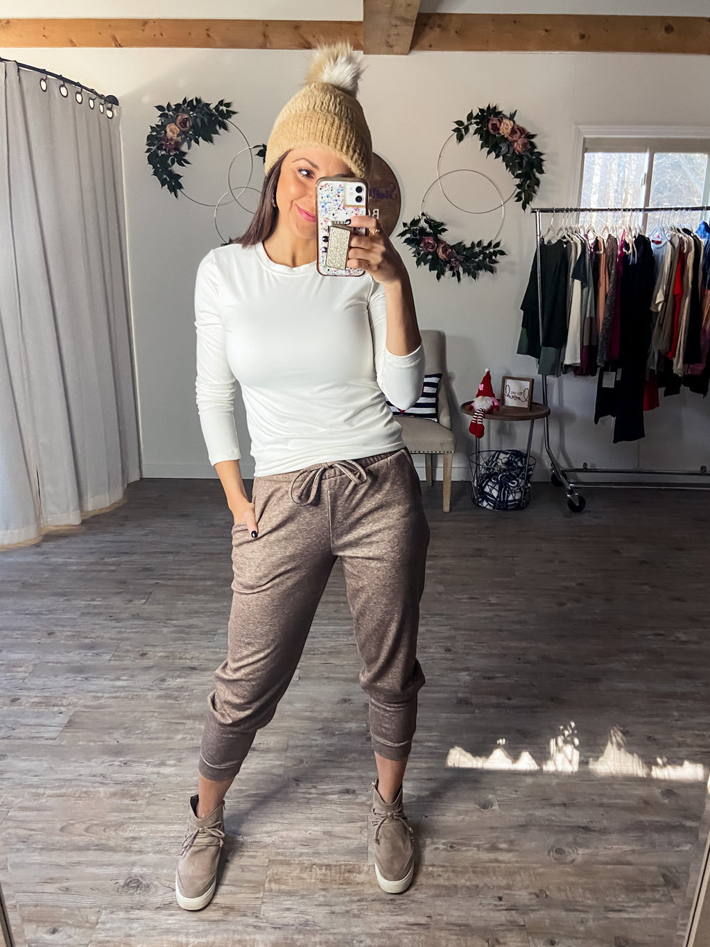 Everyday Joggers (Heathered Mocha)