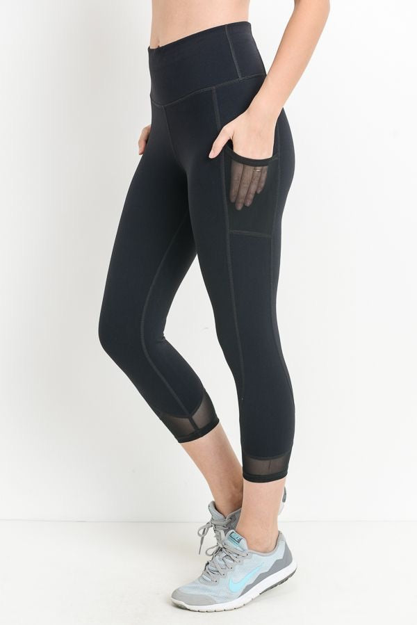 High Performance Crop 'n' mesh leggings