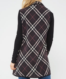 Warm Me Up Plaid Vest