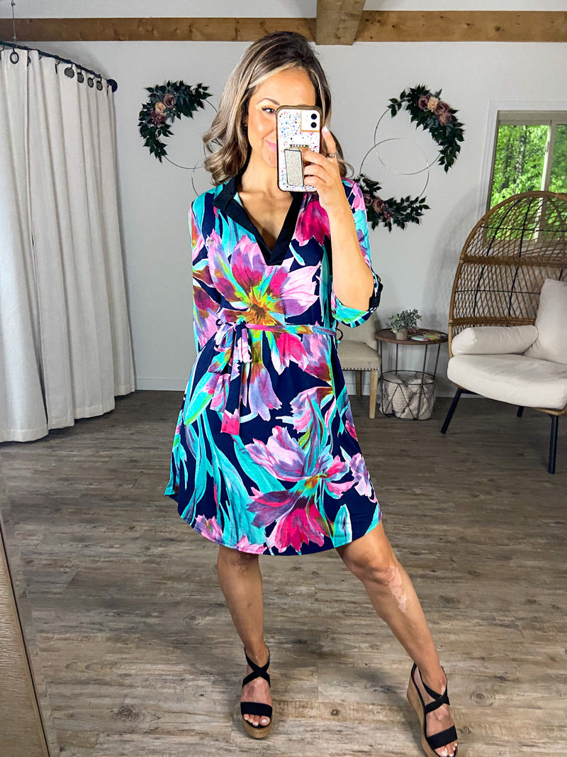Summertime Date Floral Dress