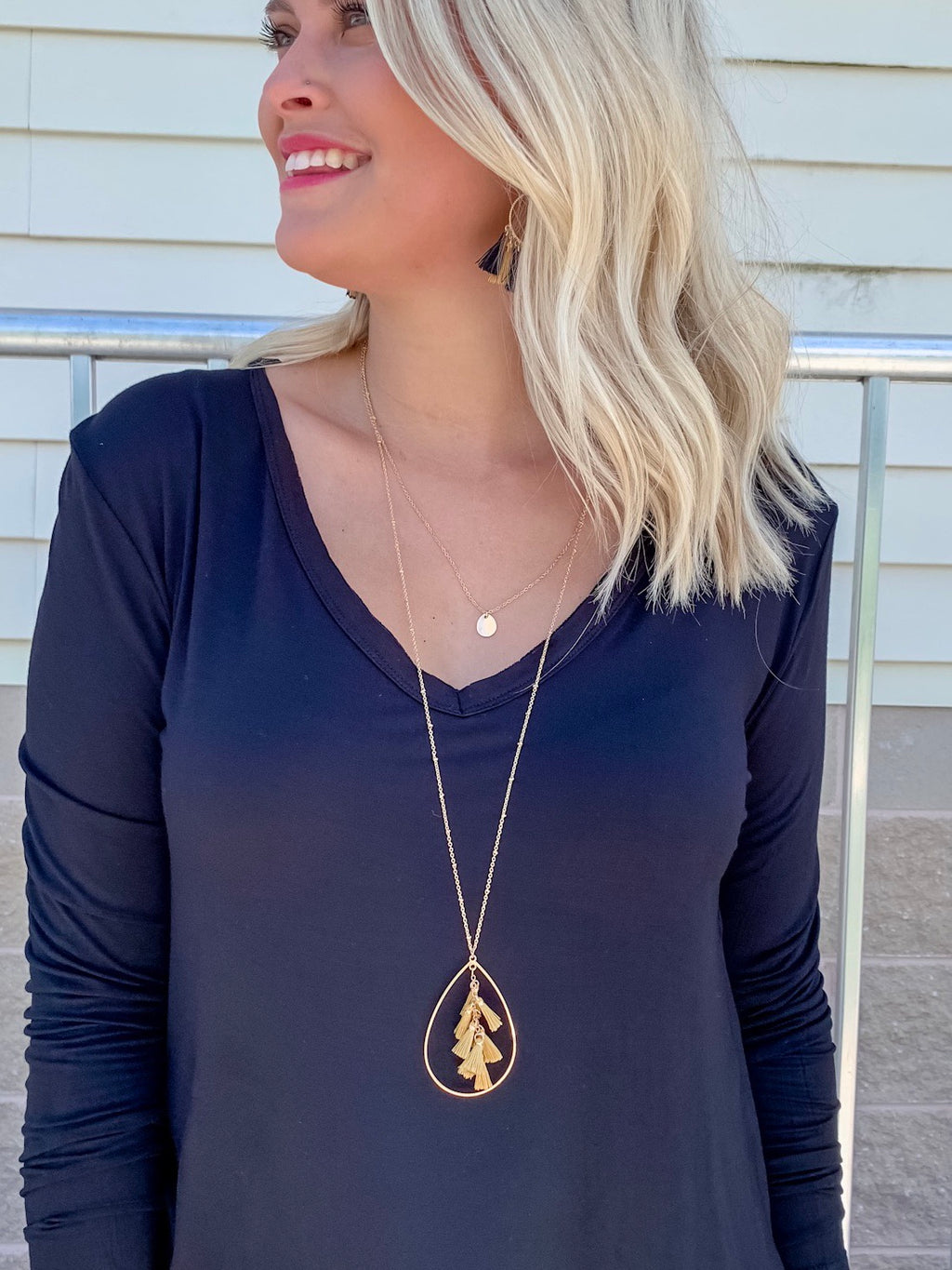 Gameday Gold Tassel Necklace