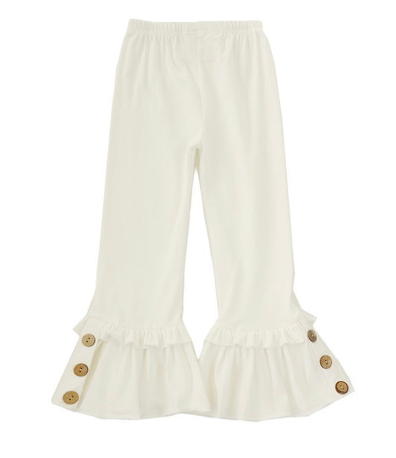 Girls Bell Bottoms (cream)