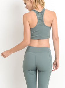 Center Stage Sports Bra in Sage
