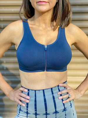 Holding It Down Sports Bra (Navy)