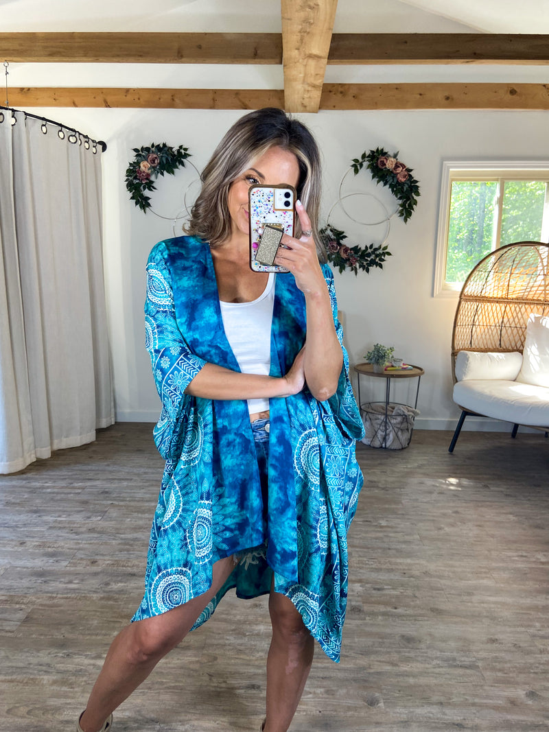 Wrapped in Watercolor Kimono