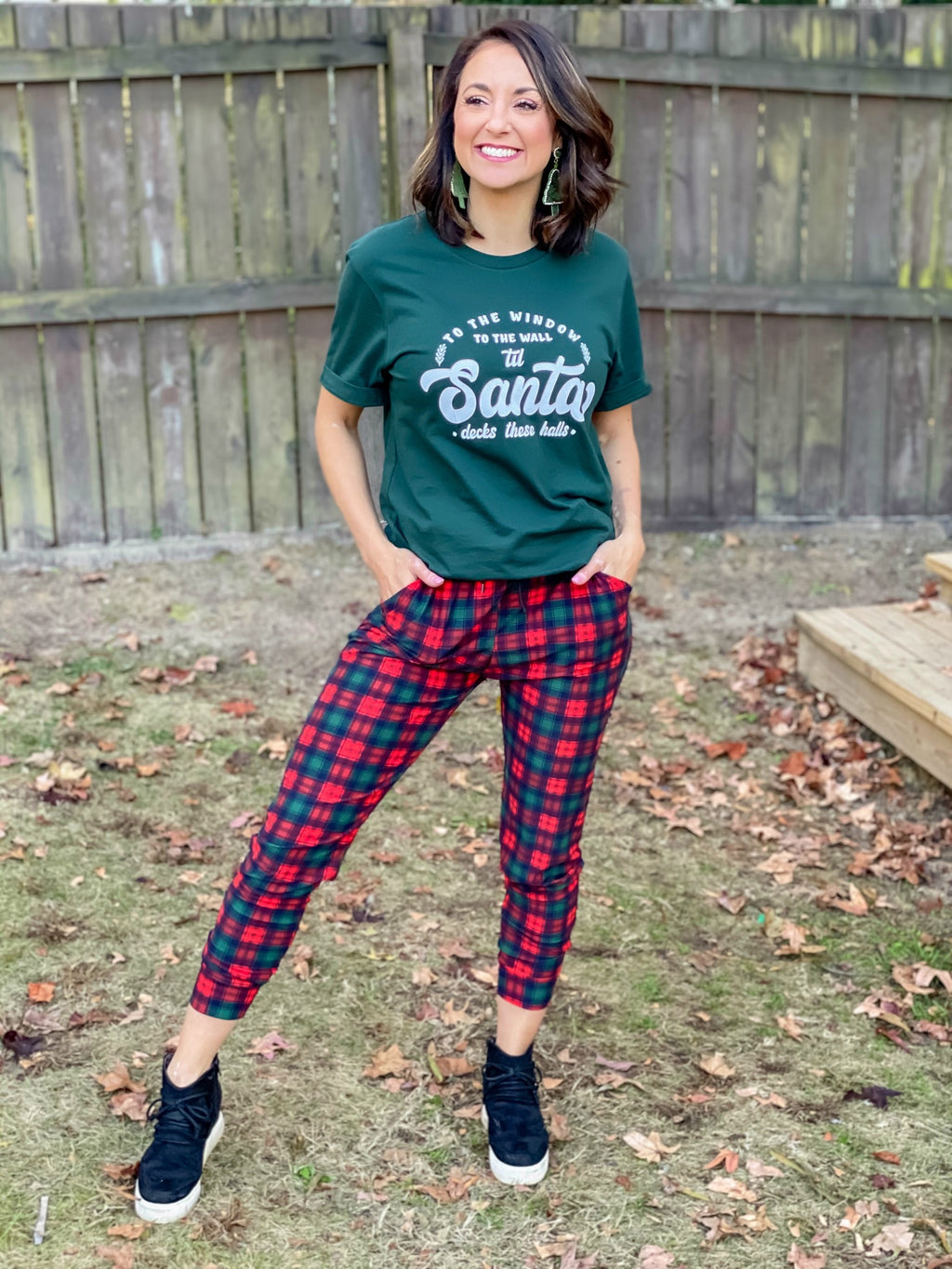 Christmas Plaid Butter Joggers