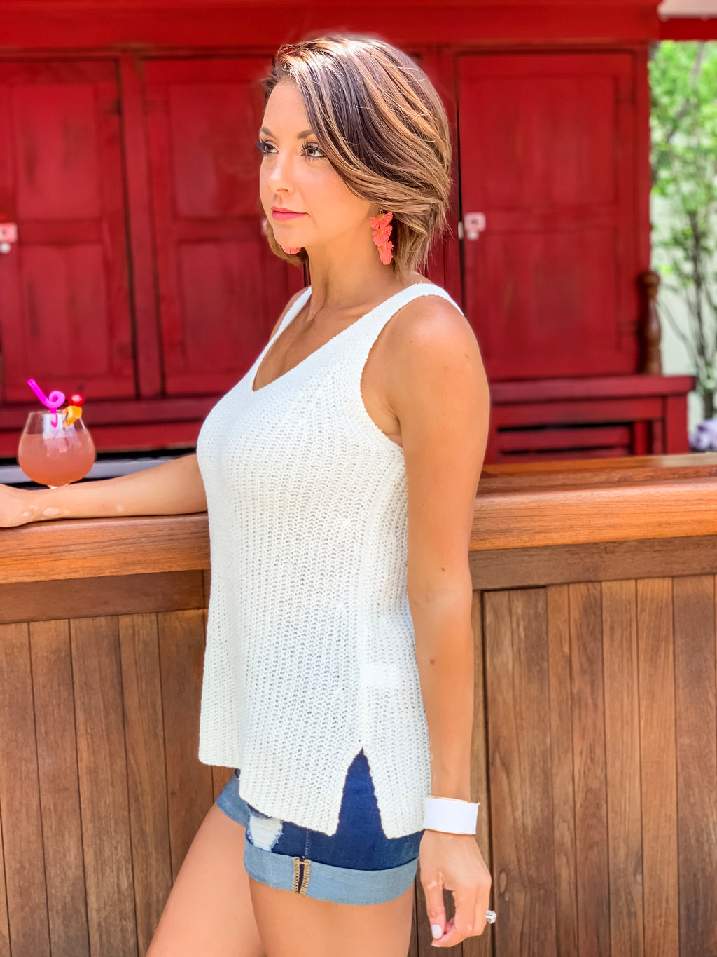 Beach Garden Sweater Tank