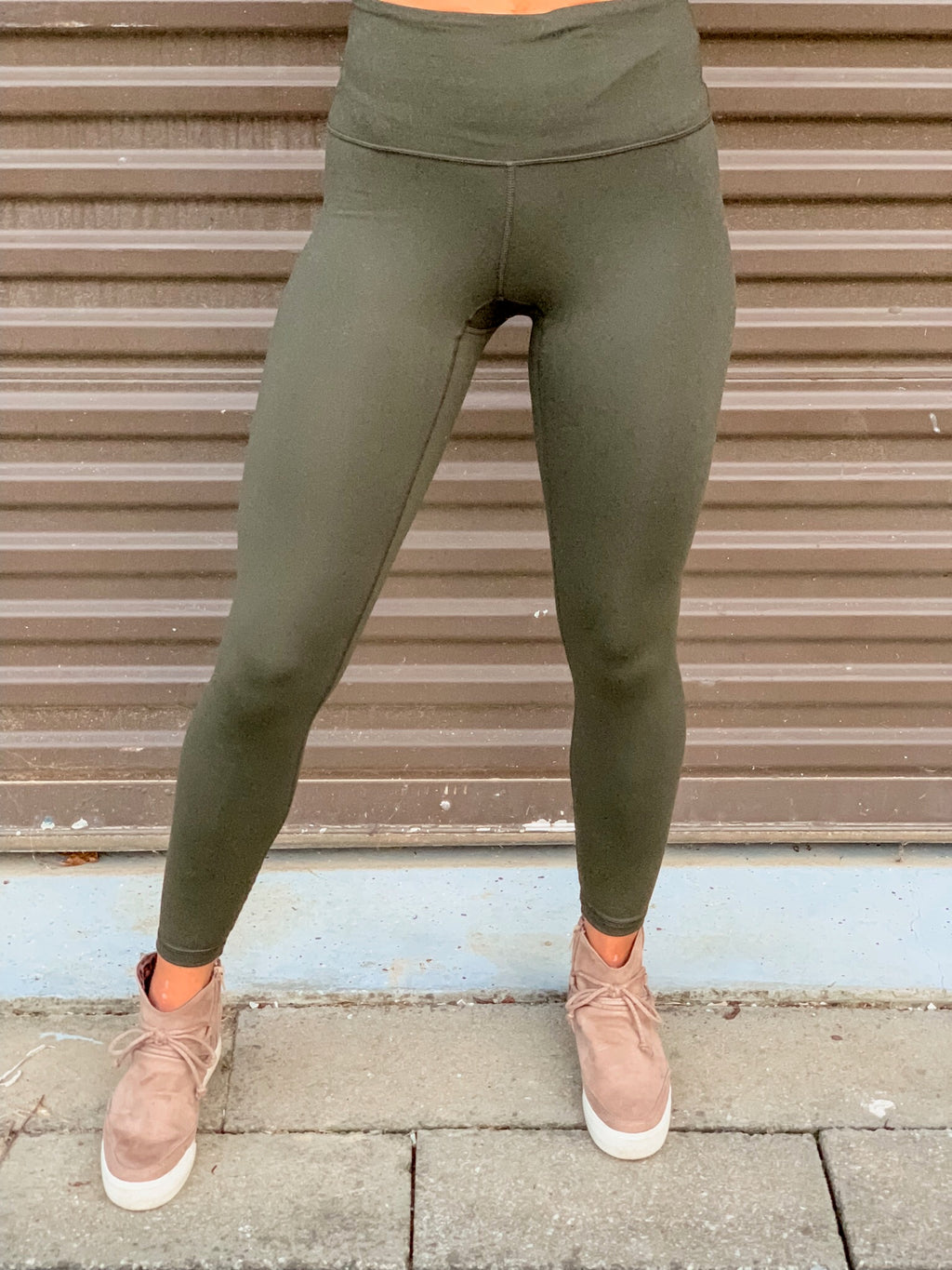 Leave A Compression Leggings (Dark Olive)