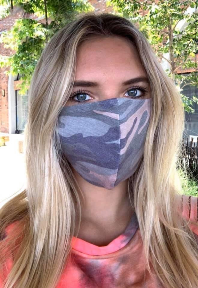 Dusty Pink Camo Face Mask