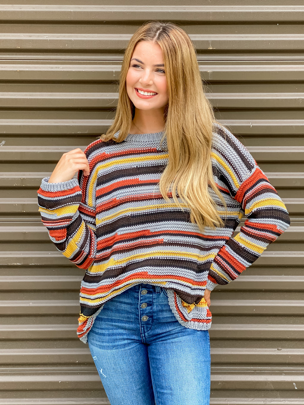 Follow Through Striped Sweater