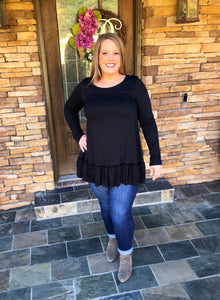 Go To Ruffle Tunic (plus size)