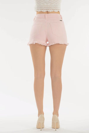 Go Girl Pink Distressed Shorts