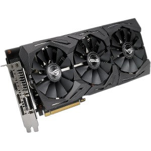 ROG Strix ROG-STRIX-RX580-8G-GAMING Radeon RX 580 Graphic Card  8 GB GDDR5 - Triple Slot Space Required - 256 bit Bus Width - Fan Cooler - OpenGL 4.5 - 2 x DisplayPort - 2 x HDMI - 1 x Total Number of DVI (1 x DVI-D) - PC GDDR5 DP HDMI DVI VR READY