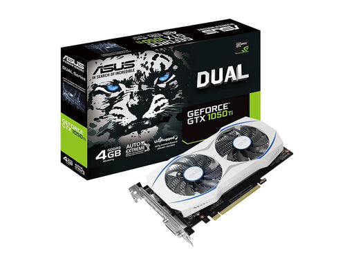 ASUS GeForce GTX 1050 Ti DirectX 12 DUAL-GTX1050TI-O4G 4GB 128-Bit GDDR5 PCI Express 3.0 HDCP Ready Video Card