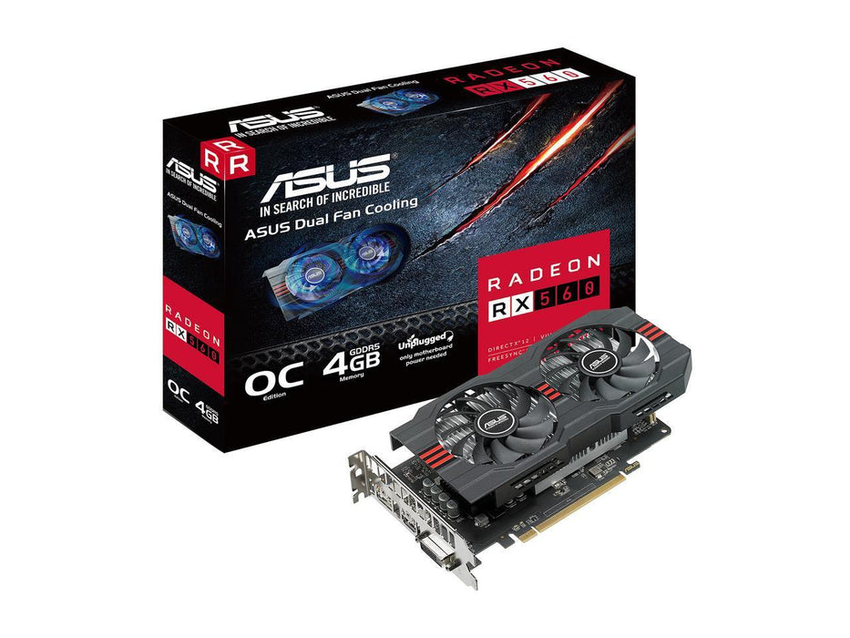 ASUS Radeon RX 560 4GB EVO OC Edition GDDR5 DP HDMI DVI AMD Graphics Card (RX560-O4G-EVO)
