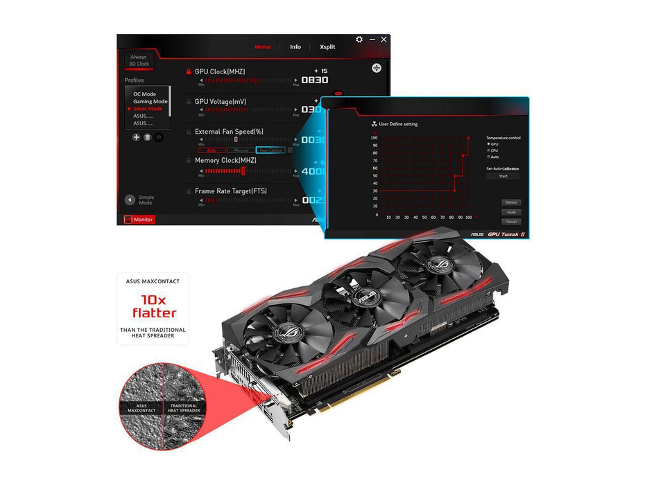 ASUS ROG Radeon RX Vega 64 STRIX-RXVEGA64-O8G-GAMING 8GB 2048-Bit HBM2 PCI Express 3.0 HDCP Ready Video Card