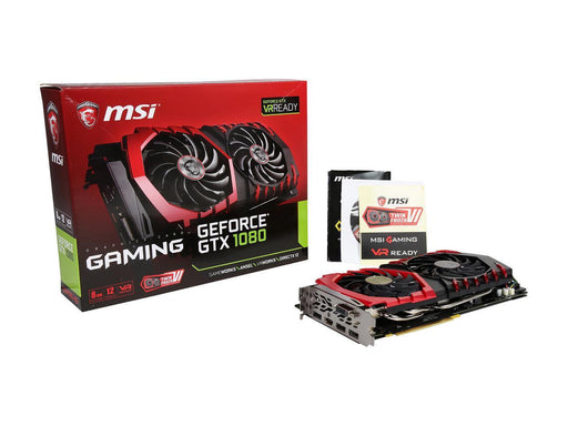 IN STOCK MSI GeForce GTX 1080 DirectX 12 GTX 1080 GAMING 8G 8GB 256-Bit GDDR5X PCI Express 3.0 x16 HDCP Ready SLI Support ATX Video Card