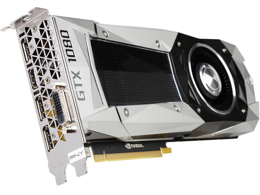 PNY GeForce GTX 1080 Founders Edition 8GB GDDR5X PCI Express 3.0 Graphics Card VCGGTX10808PB-CG   3 x DisplayPort - 1 x HDMI - 1 x Total Number of DVI - PC - Dual Link DVI Supported GDDR5X DVI-D HDMI 3XDP