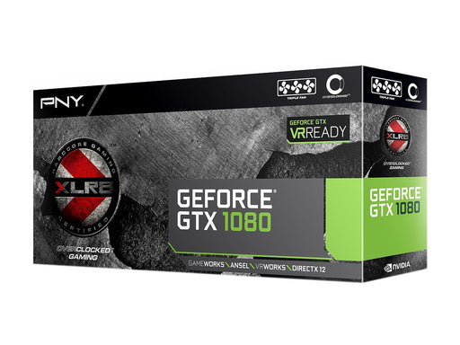 PNY GeForce GTX 1080 DirectX 12 VCGGTX10808XGPB-OC 8GB 256-Bit GDDR5X PCI Express 3.0 x16 SLI Support XLR8 Gaming OC Edition Video Card